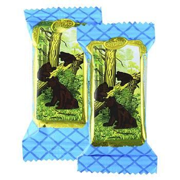 Конфеты Лісова казка Ведмедик клишоногий вафельные в кондитерской глазури