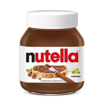 Ореховая паста Nutella с какао 630г - купить, цены на Novus - фото 1