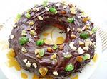 Медовый кекс с шоколадной глазурью