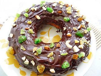 Медовий кекс із шоколадною глазур'ю