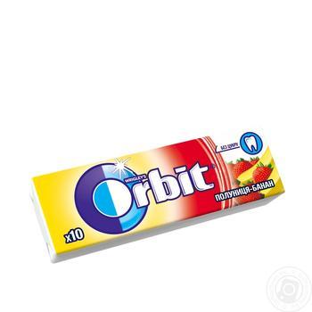 Резинка жевательная Orbit Клубника-Банан 13,6г - купить, цены на Novus - фото 1