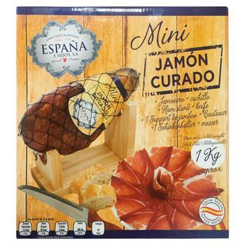 Хамон Курадо Espana міні сиров'ялений в подарунковій упаковці 1кг - купити, ціни на УльтраМаркет - фото 2