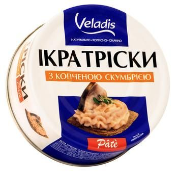Cod roe Pate with smoked mackerel pieces Veladis 100g - buy, prices for CityMarket - photo 1