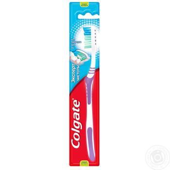 Зубна щітка Colgate Експерт чистоти видаляє бактерії середньої жорсткості 1+1шт - купити, ціни на Ашан - фото 2
