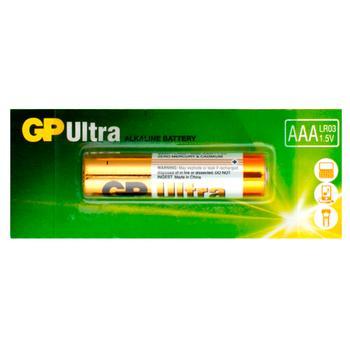 Батарейка GP Ultra LR03 AAA щелочная 1шт