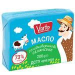 Масло Varto Крестьянское 73% сладкосливочное 200г