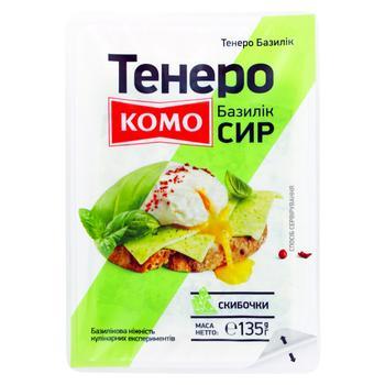 Komo Tenero Basil Slice Cheese 135g - buy, prices for CityMarket - photo 1
