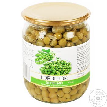 Горошек зеленый консервированный 500мл