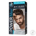 Краска для волос, бороды и усов Power Men 3в1 04 коричневая 60г