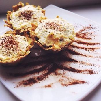 Овсяно-творожные кексы с яблоком