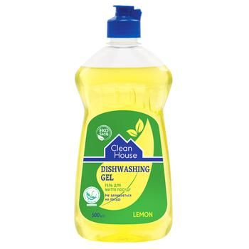 Clean House Lemon Dishwashing Gel 500g - buy, prices for Auchan - photo 1