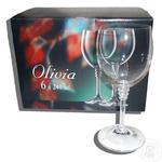 Набор бокалов Olivia для вина 6шт. 240мл