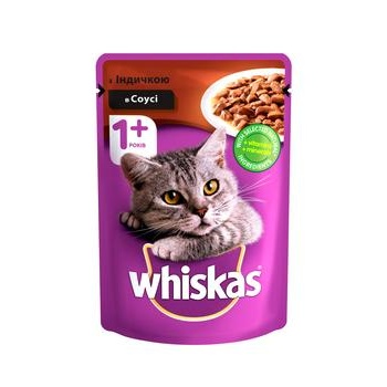 Whiskas With TurkeyIn Sause For Cats Food - buy, prices for CityMarket - photo 1