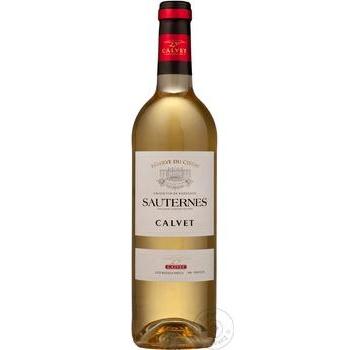 Вино Calvet Reserve du Ciron Sauternes біле солодке 12.5% 0.75л - купити, ціни на Novus - фото 1