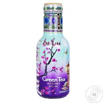 Чай холодный AriZona с мёдом и сливовым соком зеленый 0.5л