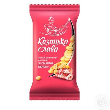 Арахіс Козацька слава смажений солоний зі смаком бекону 180г - купити, ціни на МегаМаркет - фото 1
