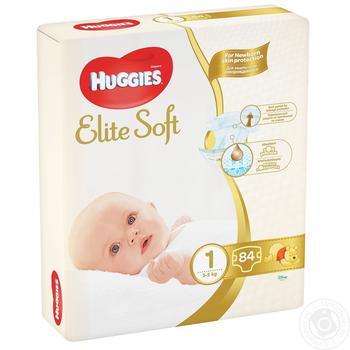Підгузки Huggies Elite Soft Mega 1 2-5кг 84шт - купити, ціни на Novus - фото 5