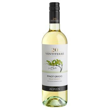 Вино Zonin Pinot Grigio Delle Venezie белое полусухое 12% 0,75л - купить, цены на Novus - фото 1