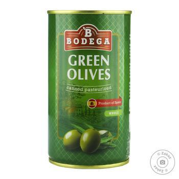 Оливки зеленые Bodega с косточкой 350г