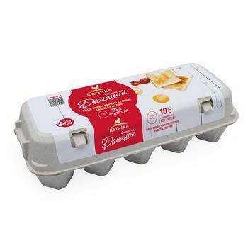 Яйця Квочка Домашні курячі С0 10шт - купити, ціни на Восторг - фото 1