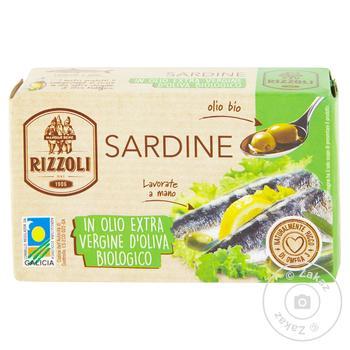 Сардины Rizzoli в оливковом масле 120г - купить, цены на МегаМаркет - фото 1