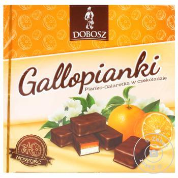 Конфеты шоколадные Dobosz Молочко и желе ванильно-апельсиновые 400г