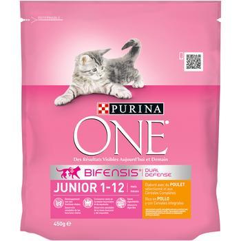 Корм сухой Purina One Junior с курицей и цельными злаками для котят от 1 до 12 месяцев 450г
