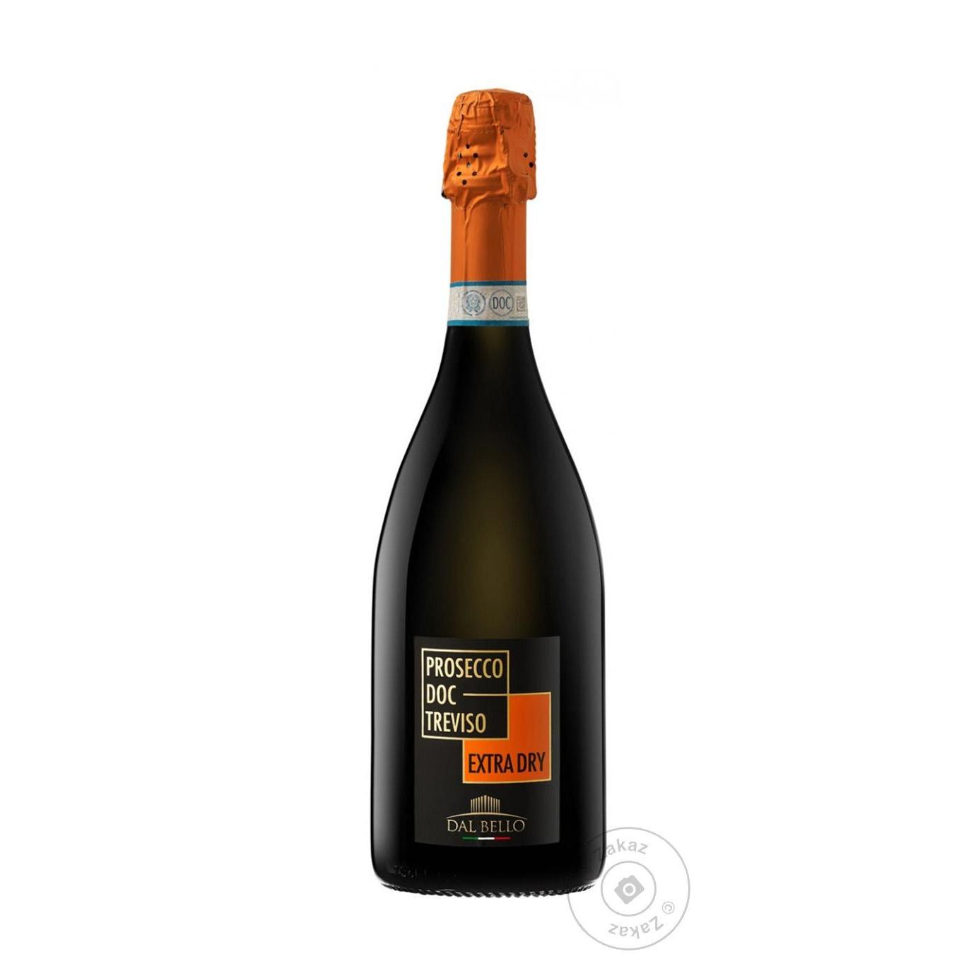 Купить 499676, Вино игристое Dal Bello Prosecco Doc Trevisso Extra Dry белое сухое 11% 0, 75л