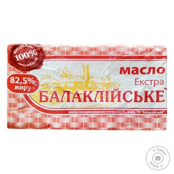 Масло Балмолоко Экстра 82,5% 200г - купить, цены на Таврия В - фото 1