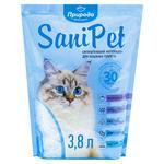 Наповнювач гігієнічний Природа Sani Pet для котів сілікагелевий 3,8л
