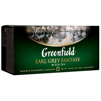 Black tea Greenfield Earl Grey Fantasy 25pcs 50g cardboard packaging - buy, prices for Novus - image 1