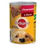 Корм для собак Pedigree с говядиной в желе 400г