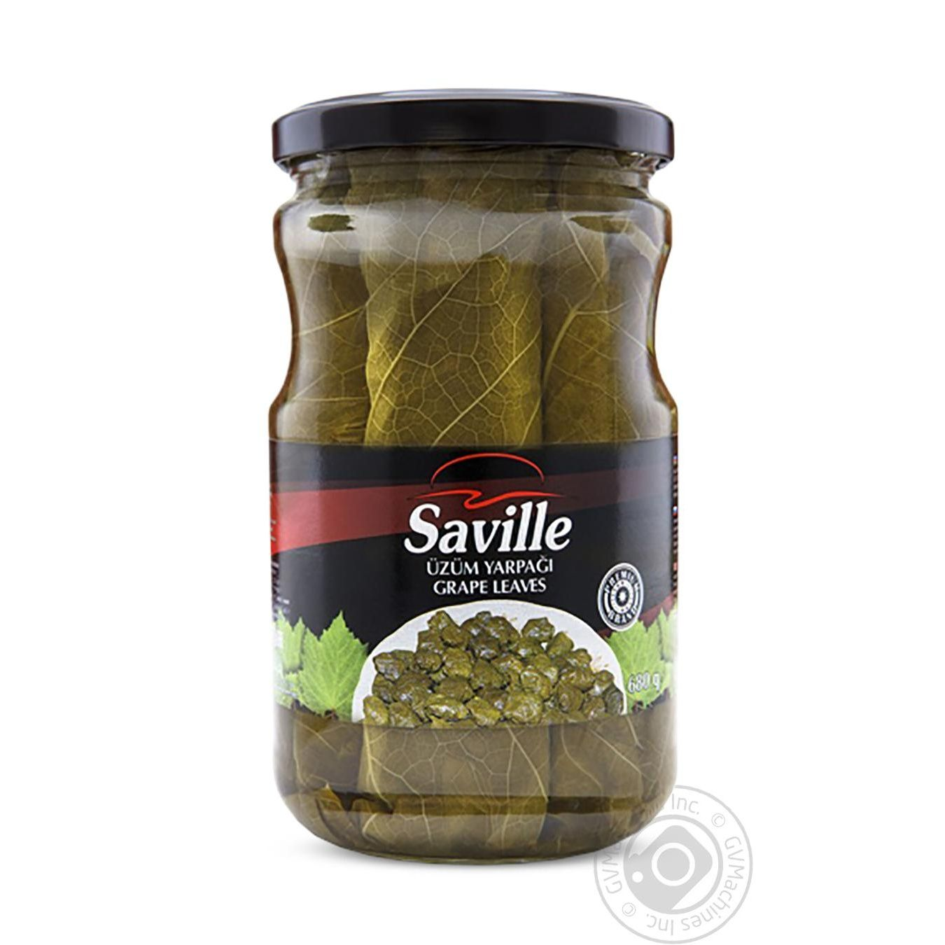 Vegetables Saville Grape Leaves Canned 680g Glass Jar Azerbaijan Canned Food And Seasonings Canned Vegetables Canned Greens Zakaz Ua Official Online Grocery For Supermarkets In Ukraine Buy