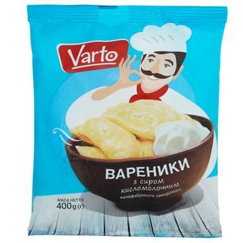 Вареники Varto с сыром замороженные 400г - купить, цены на Varus - фото 1