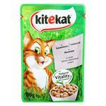 Корм для котов Kitekat с лососем 100г