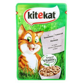 Корм для взрослых котов Kitekat с лососем в соусе 100г - купить, цены на СитиМаркет - фото 2