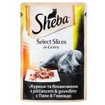 Корм для кошек Sheba с курицей и говядиной в соусе 85г