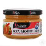 Veladis in a creamy sauce with smoke flavor capelin caviar 180g