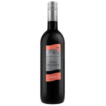 Вино Terra Italianica Rosso полусухое красное 10,5% 0,75л