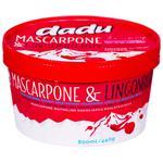 Морозиво Dadu Маскарпоне з брусницею 800мл