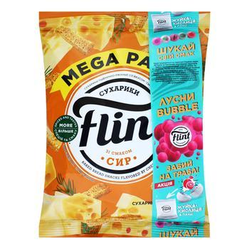 Сухарики Flint пшенично-ржаные со вкусом сыра 110г - купить, цены на СитиМаркет - фото 1