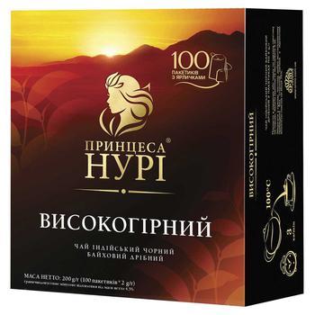 Чай чорний Принцеса Нурі Високогірний 100шт 2г - купити, ціни на ЕКО Маркет - фото 1