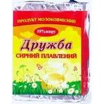 Продукт молокосодержащий Белоцерковский Дружба сырный плавленый ломтевой 55% 90г Украина