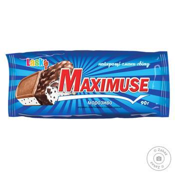 Мороженое Ласка Сэндвич Maximuse 90г - купить, цены на Фуршет - фото 1