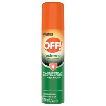 OFF! Exstreme Against Mosqouitoes Spray 100ml - buy, prices for Auchan - photo 1