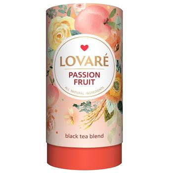 Чай черный Lovare Страстный фрукт листовой с ягодами и фруктами 80г - купить, цены на Метро - фото 1