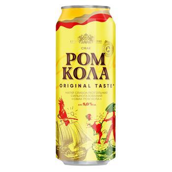 Obolon Rum Сola low-alcohol beverage 0,5l can - buy, prices for CityMarket - photo 1