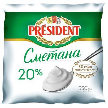 Сметана President 20% 350г - купить, цены на Метро - фото 2