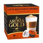 Кава Aroma Gold Latte Machiatto Caramel мелена в капсулах для кавоварок 180г