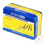 Скріпка трикутна 25 мм (100 шт.) Econimix 41001